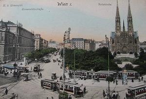 Historická pohlednice Vídně