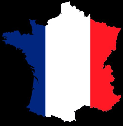 Francouzská mapa a barvy Francie