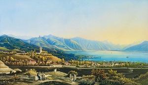 Obraz Vevey, Johann Ludwig Bleuler z 19. století