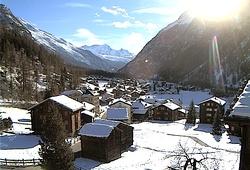 Randa, obec nedaleko Zermattu vhodná pro ubytování